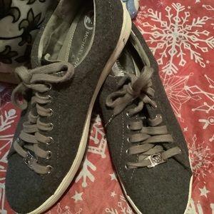 Michael Kors Keaton Lace up Sneakers Grey Flannel